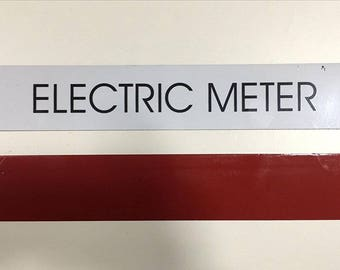 Electric Meter Sign (white)