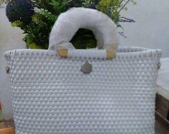 White handcrafted Bag