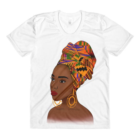 Kente Queen Woman's Sublimation crew neck shirt
