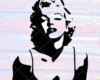 Marilyn Monroe SVG, silhouette Мarilin Monroe
