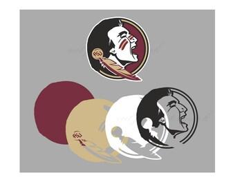 Florida Cut Files SVG & Studio 3 File for Silhouette Cricut Cutouts Decals SVGs Cutout Logos Logo Decal Football Seminoles State FSU