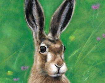 Hare Picture - Hare Wall Art - British Wildlife - Wildlife Artwork - Hare Print - Animal Picture - Animal Artwork - Wildlife Picture