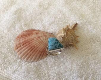 Ring larimar stone