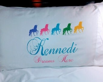 Personalized Customized Unicorn Pillowcase Pillow case