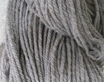 Natural Gray Rambouillet Hand Spun Yarn