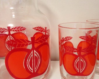 Vintage carafe and glasses