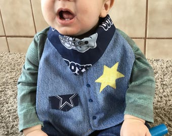 Sports teams cowboy denin bibs