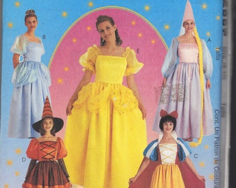 McCalls M2857 Sewing Pattern Storybook Red Riding Hood, Snow White Dorothy Costumes Size Childrens 3-8