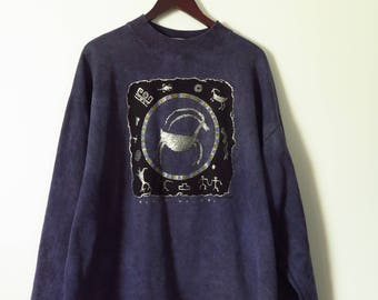 Vintage 80's Crewneck Metallic Sweater // Cloud Walker // Astronomy Sweater // H-Cut Bulky Sweater // Made in Canada