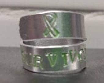 Hand Stamped - Survivor Ring
