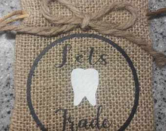 Pull String Tooth Fairy Bag