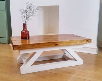Rustic Style Solid Wood Coffee Table