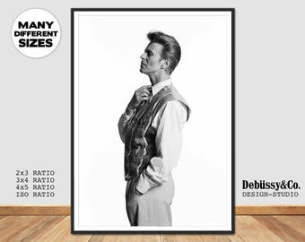 David Bowie print, David Bowie Poster, Bowie print, Bowie poster, David Bowie Photo art, David Bowie black and white photo, Bowie BW Photo