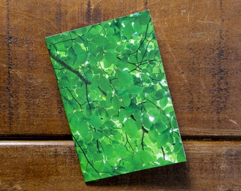 Beech Leaves Eco Pocket Notebook, Recycled, Eco-friendly printing