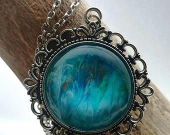 Necklaces Acrylic Pour