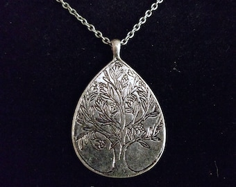 Silver Flowering Tree Necklace