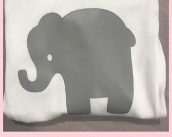 Cute baby elephant  onesie