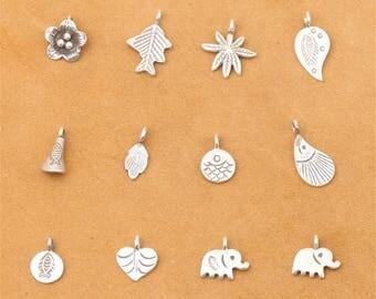 Sterling Silver Bracelets Pendant,Kinds of Shapes(CY020)