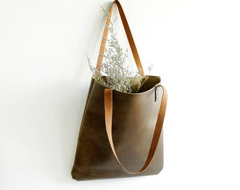 cowhide leather tote/brown leather tote/camel leather tote/large tote bag/leather totes/leather tote camel/leather satchel/sturdy tote