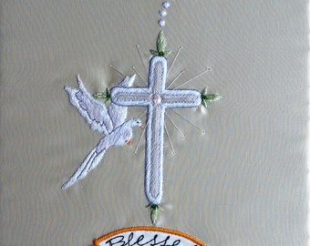 Blessed embroidery picture