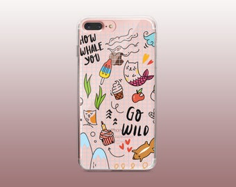 Clear TPU iPhone Case for iPhone 8- iPhone 8 Plus - iPhone X - iPhone 7 Plus-iPhone 7-iPhone 6-iPhone 6S-Samsung S8