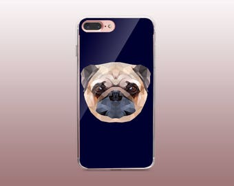 Dog Clear TPU iPhone Case for iPhone 8- iPhone 8 Plus - iPhone X - iPhone 7 Plus-iPhone 7-iPhone 6-iPhone 6S-Samsung S8