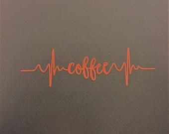 Coffee Pulse Vinyl Decal