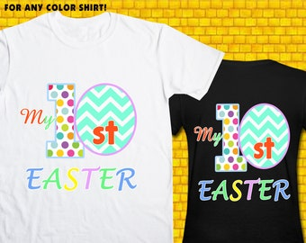 Easter / Iron On Transfer / First Easter Shirt Design / DIY Shirt / High Resolution / For Any Color T Shirt / 12 Hours Turnaround Time