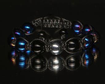 Unisex bracelet with hematite beads