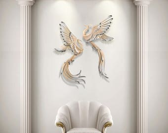 Metal Swan Wall Sculpture, Wall Mounted Swan, Masterpiece Wall Decor,  Modern Art,