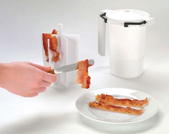 WowBacon microwave bacon cooker TWIN pack - The Ultimate way to cook bacon with No Splatter or Mess