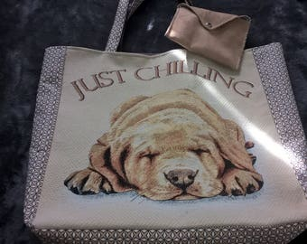 The Brown dog tote bag