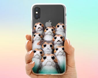 Porg Life case iPhone X Cute Porgs case Galaxy S8 Porg Jedi case iPhone 8 Porg Starwars case Note 8 iPhone 7 Plus Pixel 2 iPhone 6 Star Wars