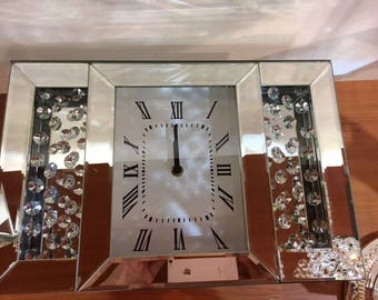 Crystal and mirror clock