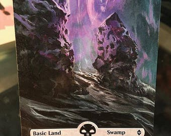 Batlle For Zendikar Full-Art Purple Swamp