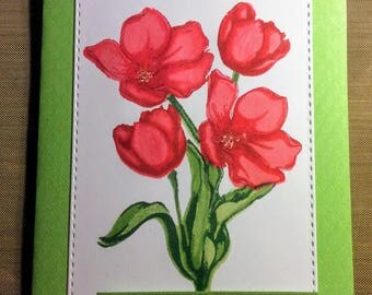 Deepest Sympathy Tulips Greeting Card