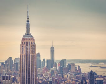 Colour photograph of the Empire State Building