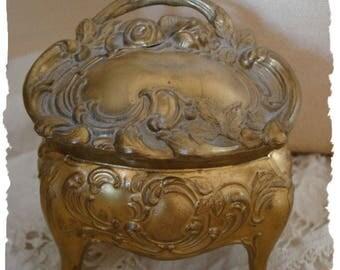 Antique Art French Art Nouveau Ring Casket Gorgeous