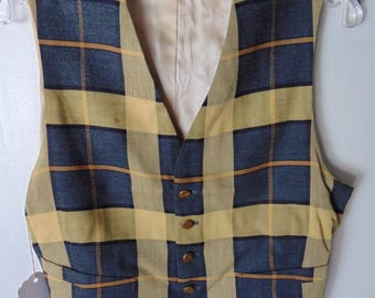 1940-50's Herald's Dress Yellow Vintage Vest Chest size 40 inches