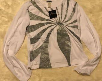 White Silver lining long sleeve shirt