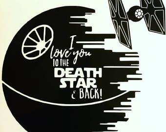 Death Star Vinyl Decal