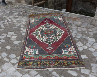Organic root color turkish rug, Free Shipping handknotted turkish carpet 3.6 x 8.1 ft. unique bohemian rug organic wool rug oushak rug MB235