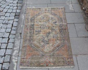 Free Shipping decorative small area rug 2.3 x 4.1 ft. handmade turkish rug natural wool rug, door mad rug,oushak rug,aztec rug, MB374