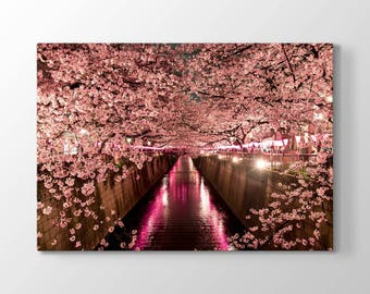 Cherry Blossom Printing On Canvas, Wall Art, Canvas Prints, Room Deco, Beautiful View, Wonder