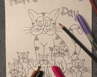 Kitty Krayonz' Mother's Day Colouring Page