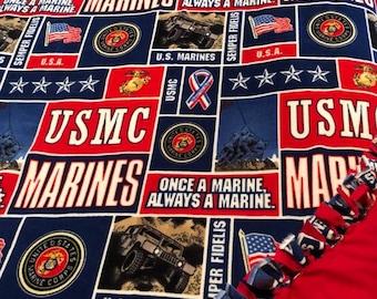US Marine Fleece Throw Blanket
