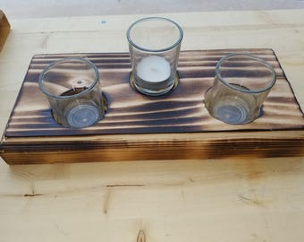 Wooden Candle Holder