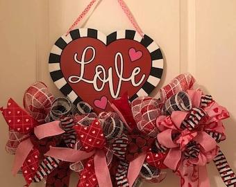 Valentine Door Hanger Wreather