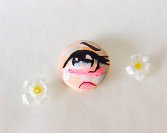 Hand Made Original Teary Eye Art Pin
