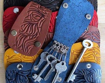 Key case, Leather Key Holder, Leather Keychain, purse key purse, Keychains Lanyards, key purse, key holder, key organaizer, key